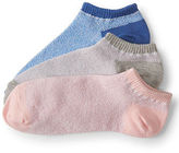 Aeropostale Womens 3-Pack Heathered Ankle Socks