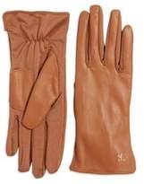 Calvin Klein Tonal Leather Back Gloves