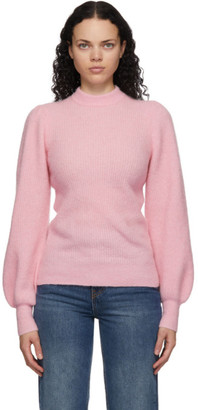 Ganni Pink Wool and Alpaca Sweater