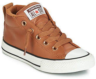 Converse CHUCK TAYLOR ALL STAR STREET RED ROVER LEATHER HI girls's Shoes (High-top Trainers) in Brown