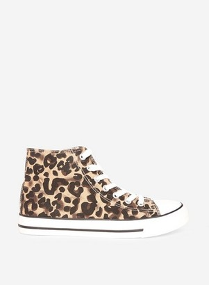 Dorothy Perkins Womens Multi Colour Leopard Print 'Iconic' Trainers