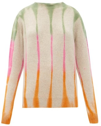 The Elder Statesman Tie-dye Cashmere Sweater - Ivory Multi