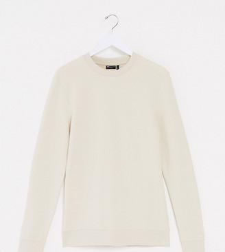 ASOS DESIGN Tall organic muscle sweatshirt in beige