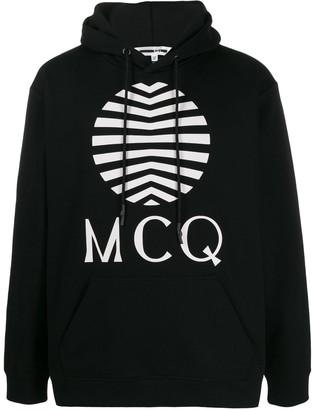 McQ Logo-Print Hooded Sweatshirt