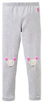Joules Little Joule Girls' Mouse Print Leggings, Grey