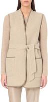 Max Mara Sleeveless wool and angora-blend jacket