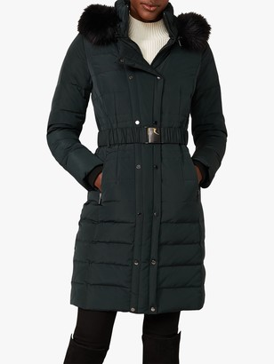 Phase Eight Leona Long Puffer Coat, Forest