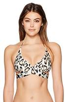 Vix Women's Leopard Middle Loop Bikini Top