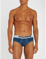 Aussiebum Enlargeit Stretch-cotton Logo Briefs