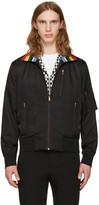 Paul Smith Black Striped Collar Bomber Jacket