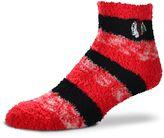 For Bare Feet Women's Chicago Blackhawks Pro Stripe Slipper Socks