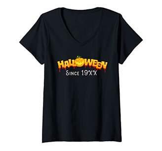 Womens Funny Halloween Since 19XX Halloween Birthday gift V-Neck T-Shirt