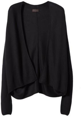 Oyuna Kaysa Black Knitted Cashmere & Silk Cardigan