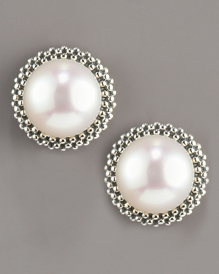 Lagos 8.5mm Pearl Caviar Earrings