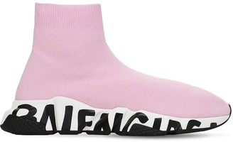 Balenciaga 30mm Speed Graffiti Lt Knit Sneakers