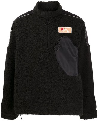 Off-White Zipped Pocket Fleece Jumper