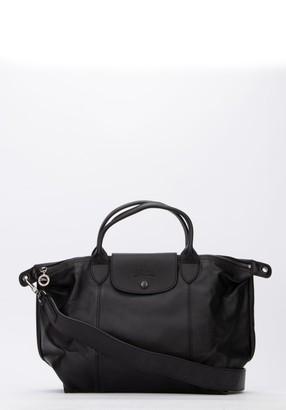 Longchamp Le Pliage Cuir Medium Top Handle Bag
