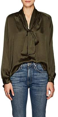 Juan Carlos Obando Women's Washed Satin Blouse - Olive