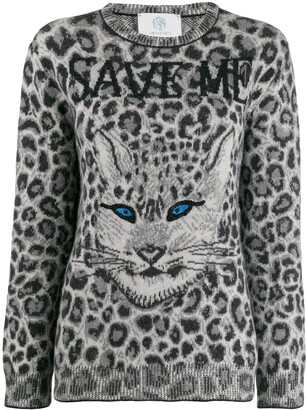 Alberta Ferretti Animal Print Jumper