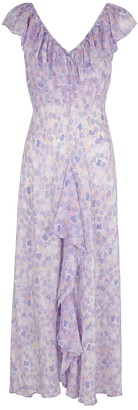 Rixo Antoinette printed silk crepe de chine midi dress