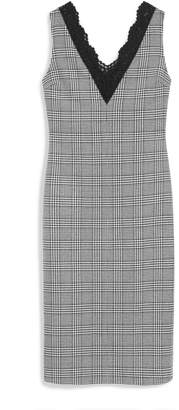 Mulberry Chelsey Dress White Houndstooth Light Wool Check