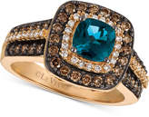 LeVian Le Vian® Chocolatier London Blue Topaz (1 ct. t.w.) and Diamond (3/4 ct. t.w.) Ring in 14k Rose Gold