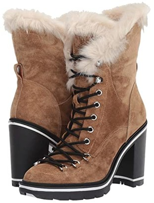Sigerson Morrison Odelia (Light Natural Suede/Faux Fur) Women's Boots