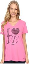 Life is Good Love Stripe Crusher Vee
