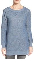 Women's Caslon Space Dye Tunic Sweatshirt