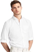 Gap Oxford stripe-trim slim fit shirt