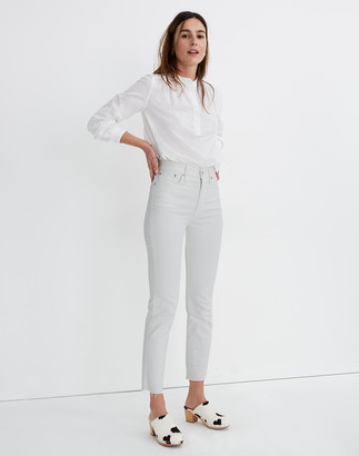 Madewell The Perfect Vintage Jean in Tile White: Raw-Hem Edition