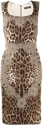 Dolce & Gabbana Leopard-Print Sleeveless Dress