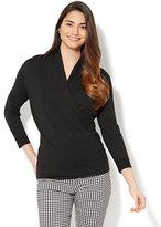 New York & Co. Draped Wrap Sweater