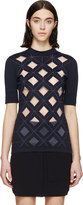 Paco Rabanne Navy Diamond Cut-Out Top