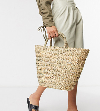 South Beach Exclusive clean straw tote bag