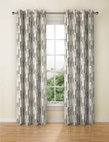 Marks and Spencer Abstract Striped Eyelet Curtain