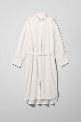 Weekday Callie Shirt Dress - White