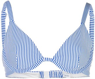 Onia striped bikini top