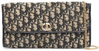 Christian Dior pre-owned Trotter flap shoulder bag