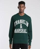 Franklin & Marshall Arch Logo Crew Sweatshirt