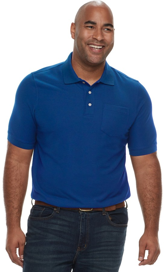 Croft & Barrow Big & Tall Regular-Fit Pique Pocket Polo