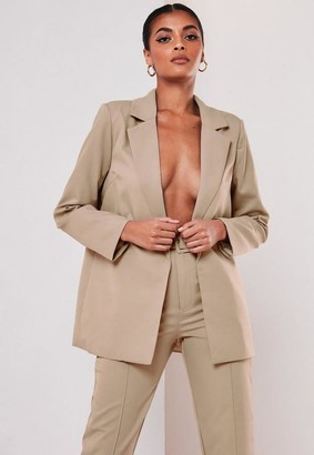 Missguided Tall Beige Co Ord Boyfriend Blazer