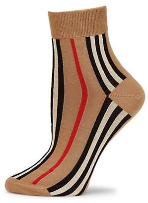 Burberry Vertical Icon Stripe Crew Socks