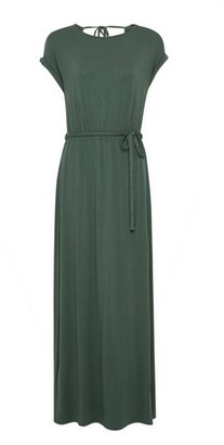 Dorothy Perkins Womens Khaki Roll Sleeve Maxi Dress, Khaki