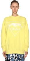 Krizia Oversized Logo Printed Cotton Sweatshirt