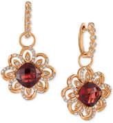 LeVian Le Vian® Pomegranate Garnet (5-5/8 ct. t.w.) and Diamond (5/8 ct. t.w.) Drop Earrings in 14k Rose Gold