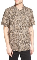 Obey Men's Untamed Print Woven Shirt