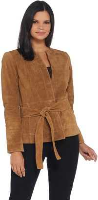 Lisa Rinna Collection Short Suede Jacket