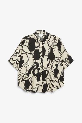 Monki Boxy short-sleeve blouse