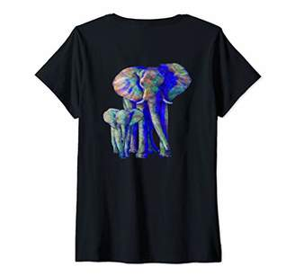 Womens Save The Elephants Elephant Animal Lover V-Neck T-Shirt